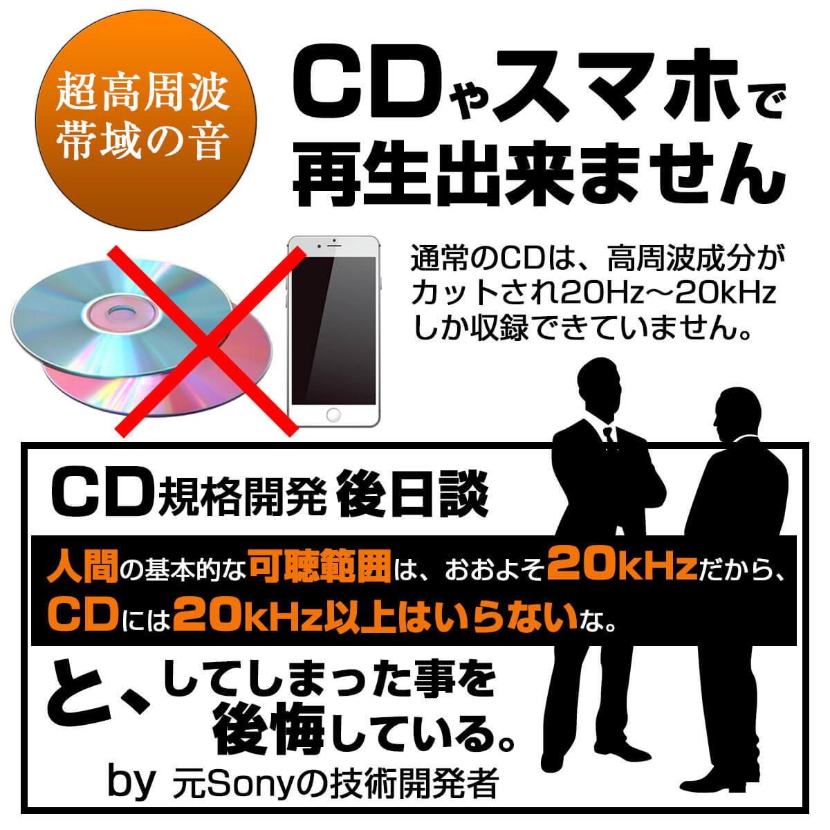 CDやスマホでは再生できない